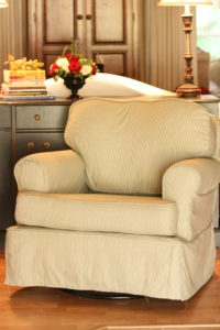 chair slipcover with tailored skirt