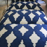 The easiest way to match pattern on chair seats