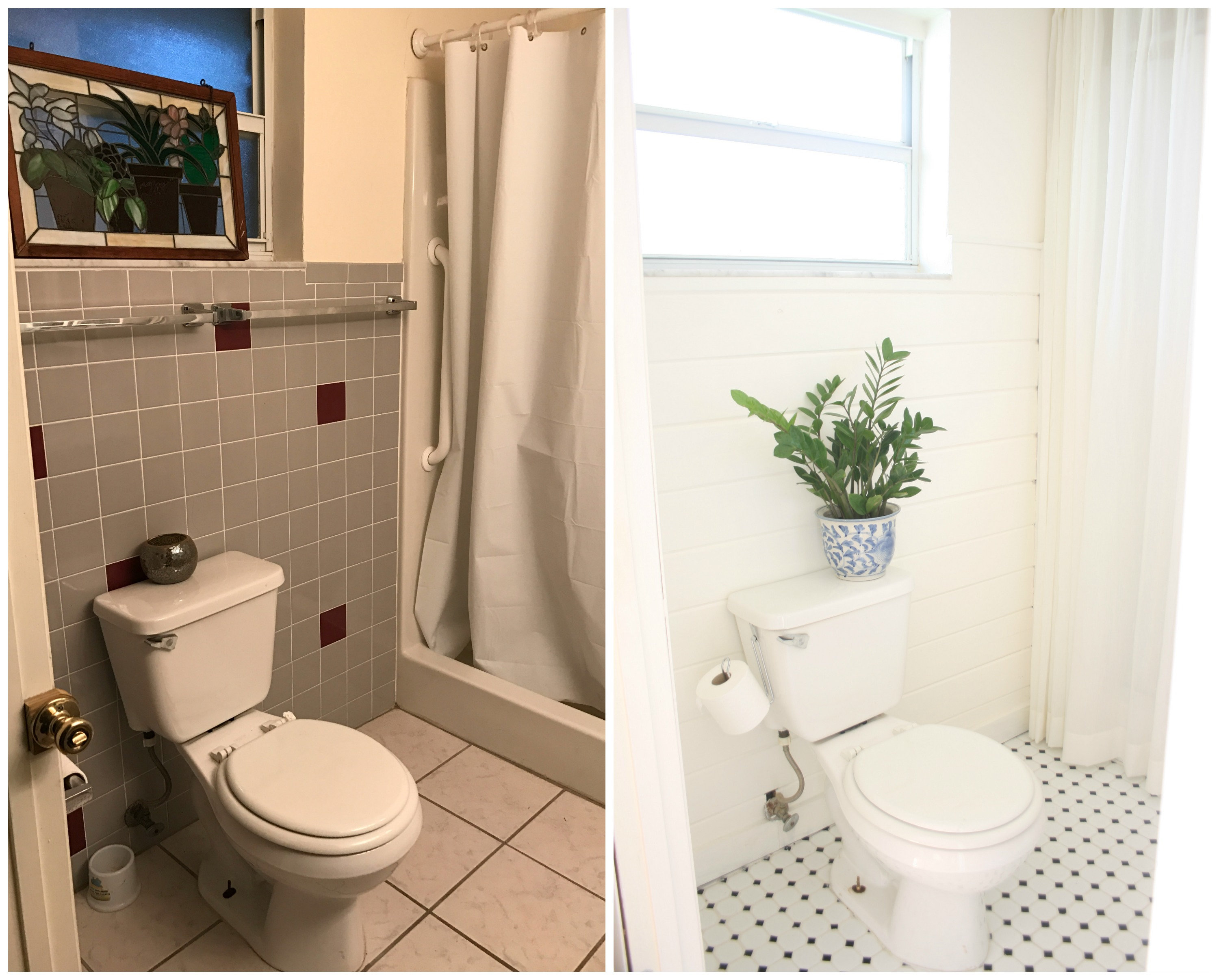 guest bathroom renovation before and after