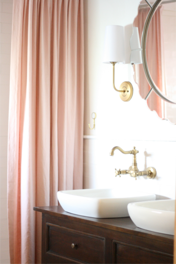How To Hang A Bathroom Mirror Over Tile Wainscoting